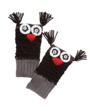 American Rag Gloves, Owl Knit Fingerless Gloves