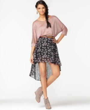 Bar III Skirt, High Low Printed