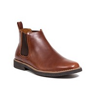 Deals on DEER STAGS Men's Rockland Memory Foam Chelsea Boot