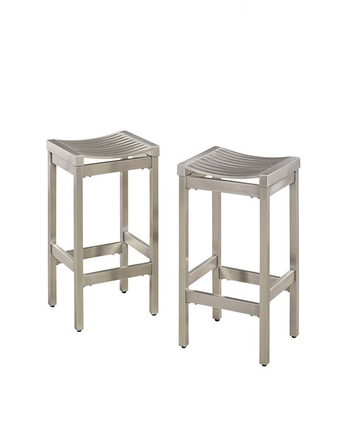 Home Styles - Pair of Stainless Steel Stools