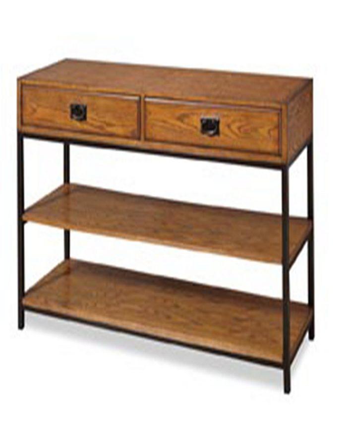 Home Styles - Modern Craftsman Distressed Oak TV Stand