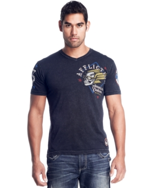 Affliction T Shirt, Short Sleeve Deamon Graphic Tee