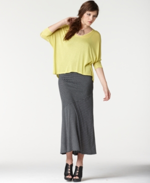 Bar III Skirt, Striped Maxi