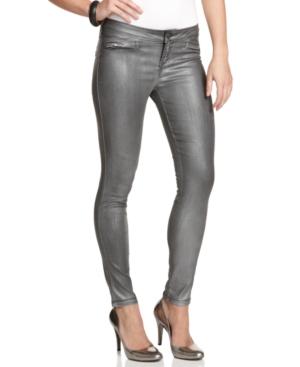 GUESS? Pants, Gunmetal Straight Leg