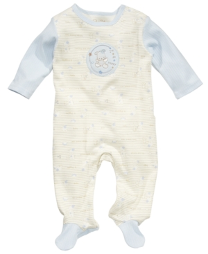 Rene Rofe Baby Coverall, Baby Boys Striped Footed Coverall