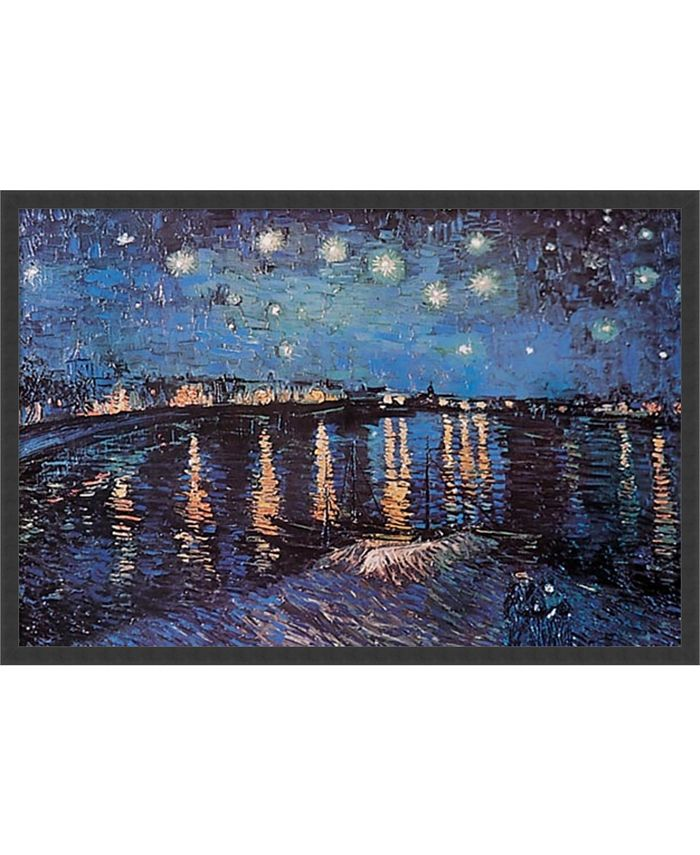 Amanti Art - Starlight Over the Rhone by Vincent van Gogh- 37x25 Framed Art Print