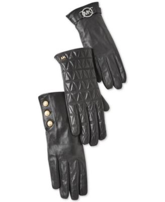Leather Astor Studded Gloves with Touch Tips