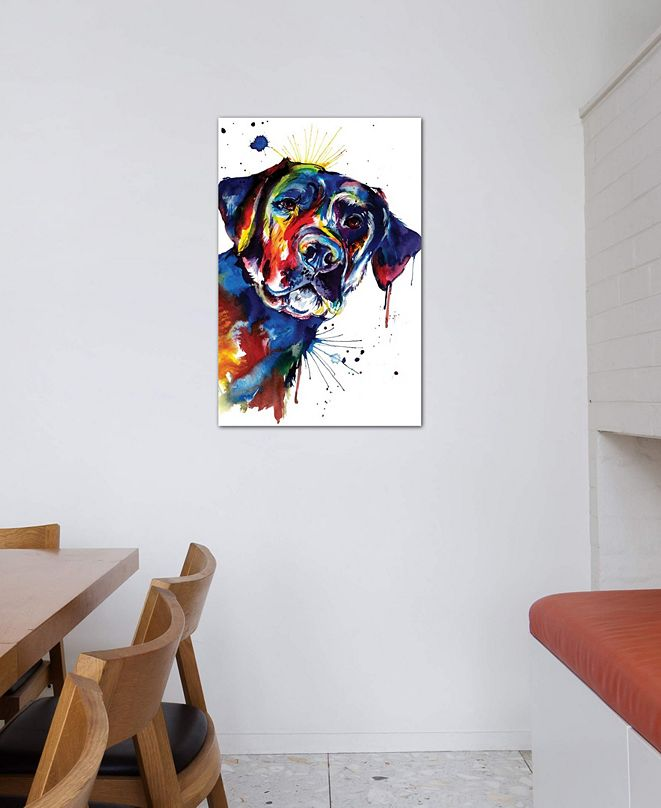 """iCanvas """"Black Lab"""" by Weekday Best Gallery-Wrapped Canvas Print"""