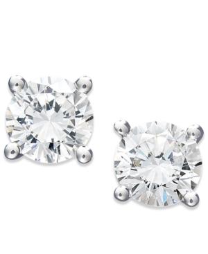 Juliet Diamond Earrings, 14k White Gold Certified Diamond Stud Earrings (1 ct. t.w.)
