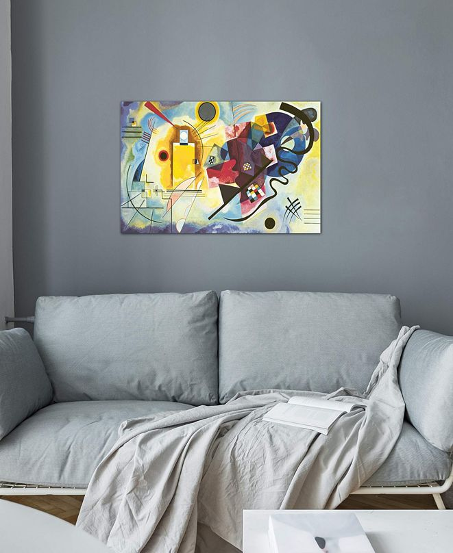 """iCanvas """"Gelb - Rot - Blau (Yellow-Red-Blue), 1925"""" by Wassily Kandinsky Gallery-Wrapped Canvas Print"""