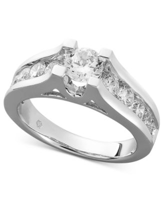 Channel Set Platinum Wedding Band 61 New Diamond Ring k White