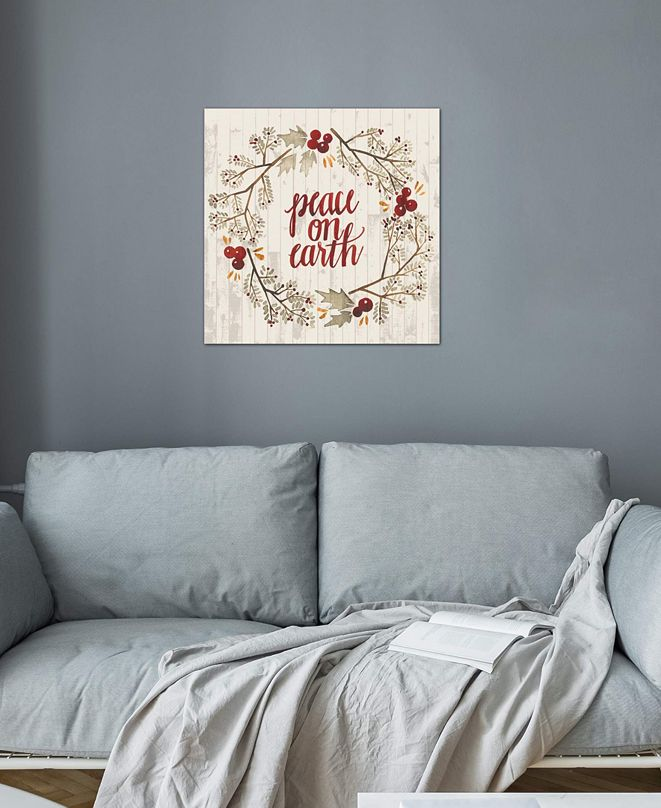 """iCanvas """"Rustic Christmas V"""" by Grace Popp Gallery-Wrapped Canvas Print"""