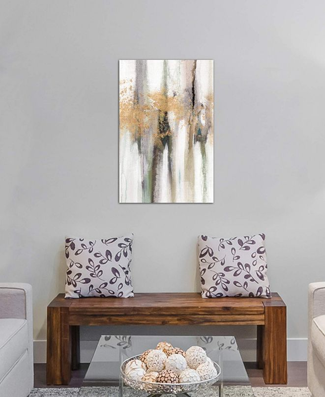 "iCanvas ""Falling Gold Leaf II"" by Studio W Gallery-Wrapped Canvas Print (26 x 18 x 0.75)"