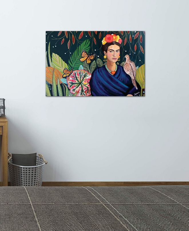 """iCanvas """"Frida"""" by Sylvie Demers Gallery-Wrapped Canvas Print (26 x 40 x 0.75)"""