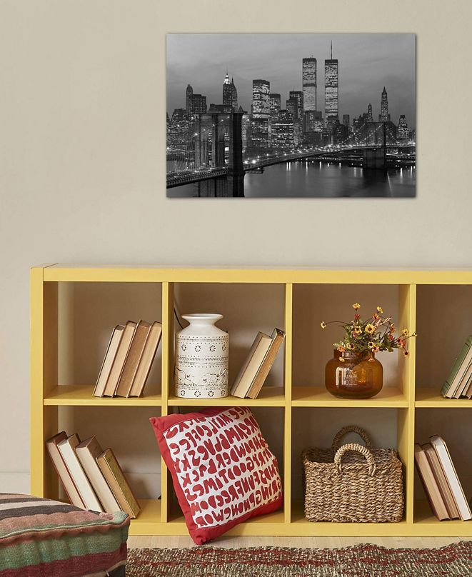 """iCanvas """"1980s New York City Lower Manhattan Skyline"""" by Vintage Images Gallery-Wrapped Canvas Print (18 x 26 x 0.75)"""