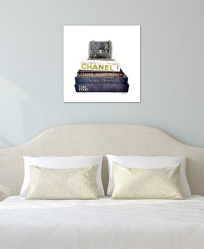 """iCanvas """"Stack Of Fashion Books With A Chanel Bag"""" by Amanda Greenwood Gallery-Wrapped Canvas Print (18 x 18 x 0.75)"""