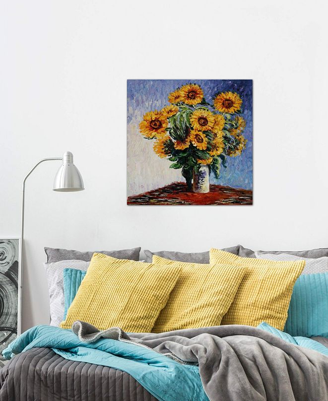 "iCanvas ""Sunflowers"" by Claude Monet Gallery-Wrapped Canvas Print (18 x 18 x 0.75)"