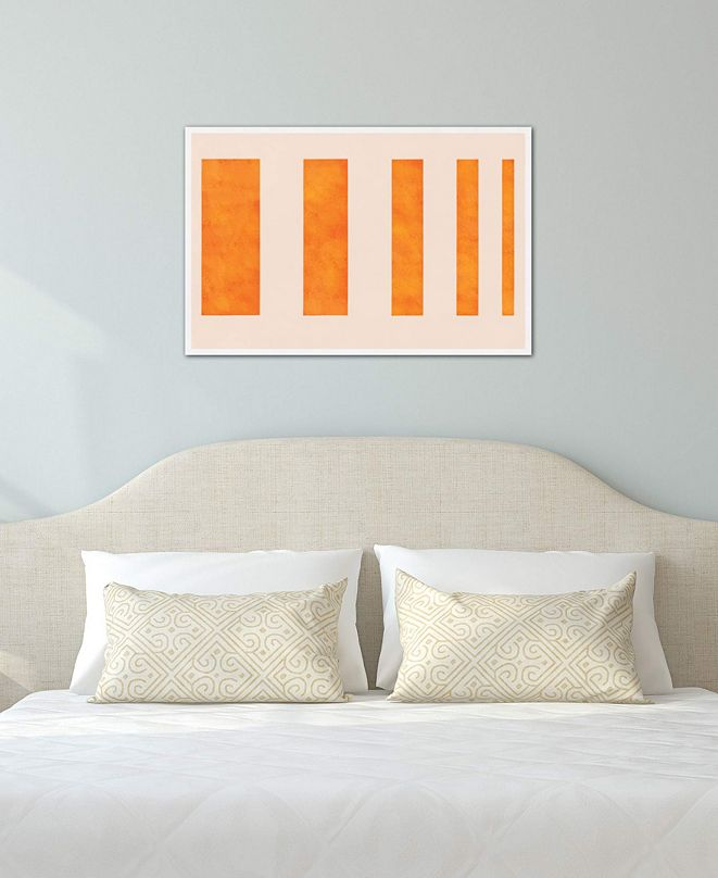 "iCanvas ""Modern Art - Orange Levies"" by 5by5collective Gallery-Wrapped Canvas Print (18 x 26 x 0.75)"