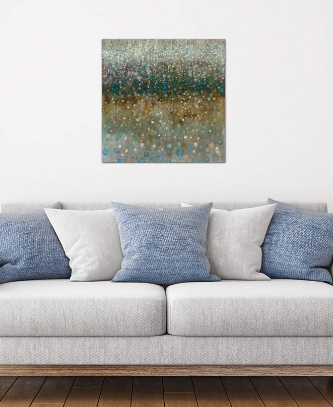 """iCanvas """"Abstract Rain"""" by Danhui Nai Gallery-Wrapped Canvas Print (26 x 26 x 0.75)"""