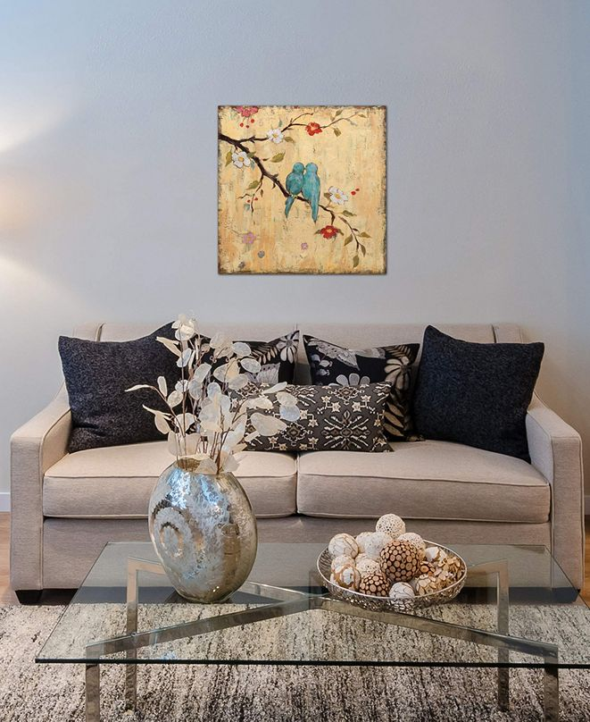 "iCanvas ""Love Birds II"" by Katy Frances Gallery-Wrapped Canvas Print (18 x 18 x 0.75)"