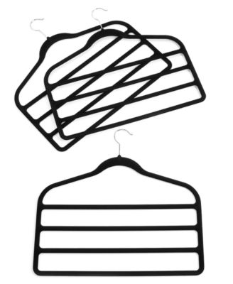 Neatfreak Pant Hangers, 3 Pack Felt 4 Tiered Clothes Hangers