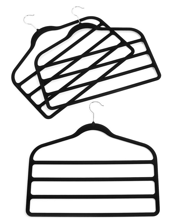 Neatfreak - Pant Hangers, 3 Pack Felt 4 Tiered Clothes Hangers