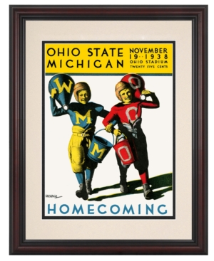 Mounted Memories Wall Art, Framed Ohio State vs Michigan Football Program Cover 1938