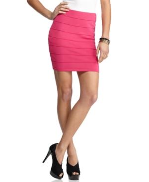 Say What? Skirt, Striped Bandage Mini