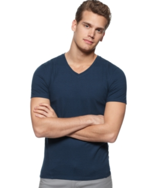 Calvin Klein Shirt, V Neck Slub Tee