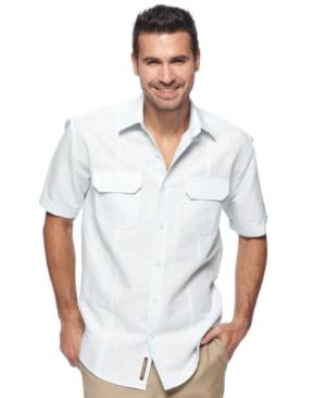 Cubavera Shirt, Double Pocket Striped Shirt