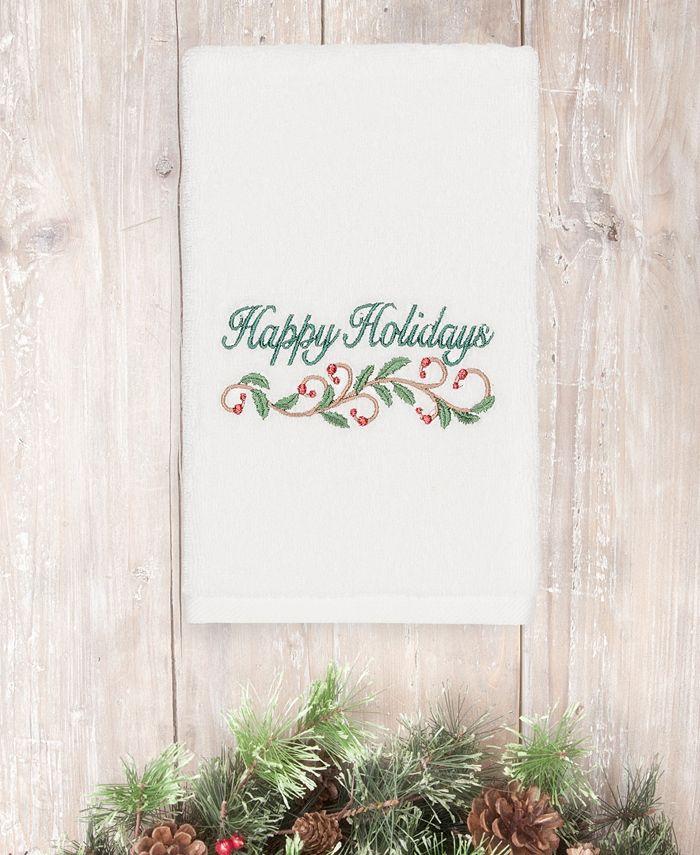 Linum Home - Christmas Happy Holidays 100% Turkish Cotton Hand Towel