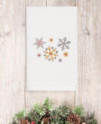 CLOSEOUT!  Christmas Snowfall 100% Turkish Cotton Hand Towel