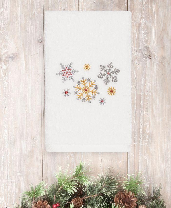 Linum Home - Christmas Snowfall 100% Turkish Cotton Hand Towel