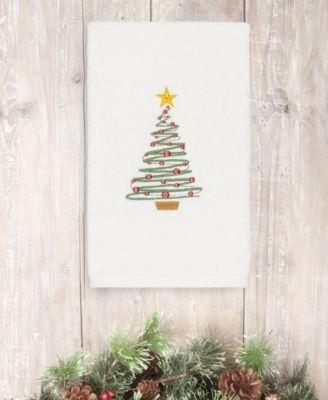CLOSEOUT!  Christmas Tree 100% Turkish Cotton Hand Towel