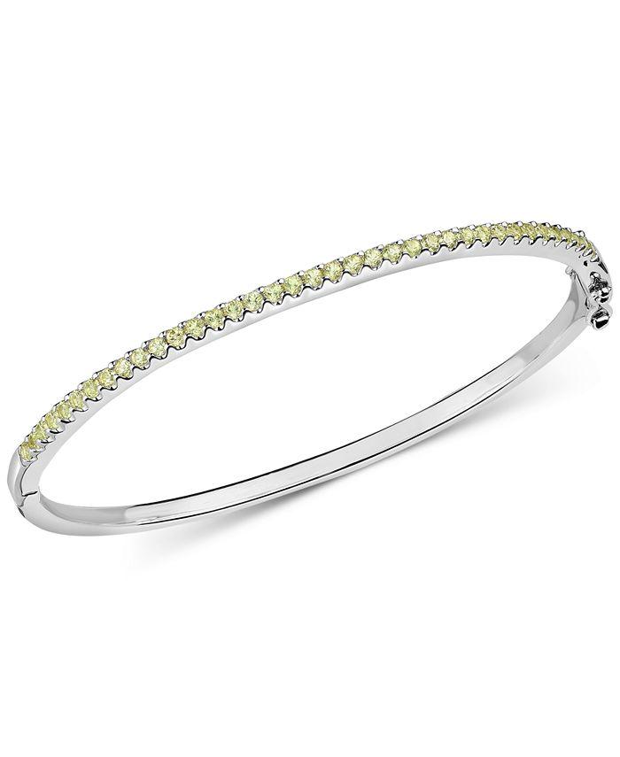 Macy's - Peridot Bangle Bracelet (1-1/5 ct. t.w.) in Sterling Silver