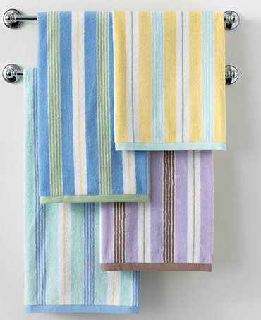 Closeout martha stewart collection plush stripe bath towel collection bath towels bed Martha stewart bathroom collection