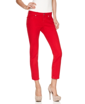 Andrew Charles Jeans, Cropped Skinny Red Denim