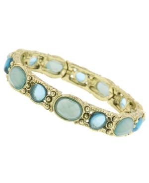2028 Bracelet, Blue Bead Stretch Bracelet