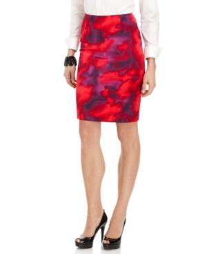 Jones New York Skirt, Slim Printed Pencil