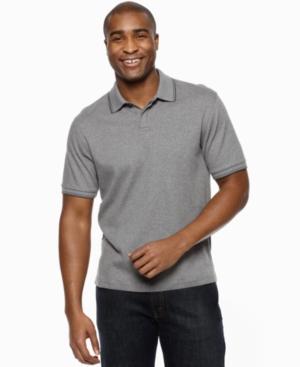 Alfani Black Shirt, Solid Tipped Polo Shirt