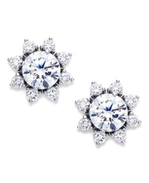 Eliot Danori Earrings, Silver Tone Cubic Zirconia Sun Stud Earrings (1-3/4 ct. t.w.)