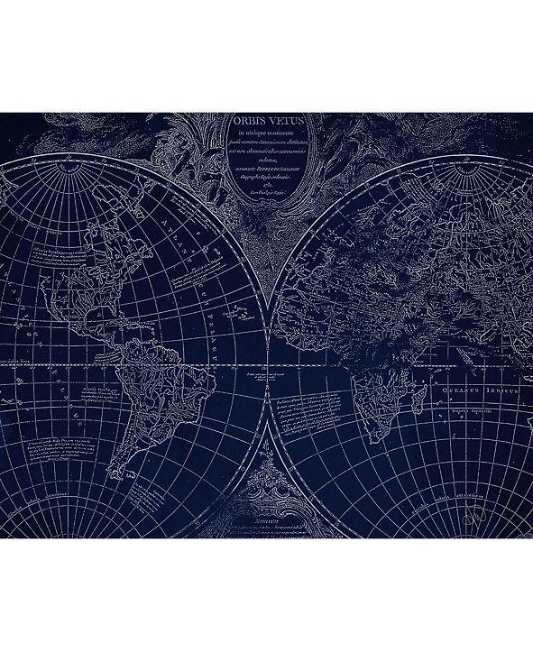 "Creative Gallery World Geography Globe Map 20"" X 24"" Canvas Wall Art Print"