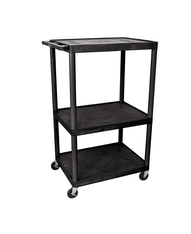 """Clickhere2shop LE54-B - 54"""" Endura A/V Cart - Three Shelves"""