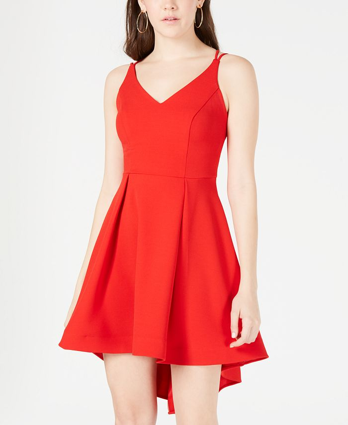 B Darlin - Juniors' Strappy High-Low Dress
