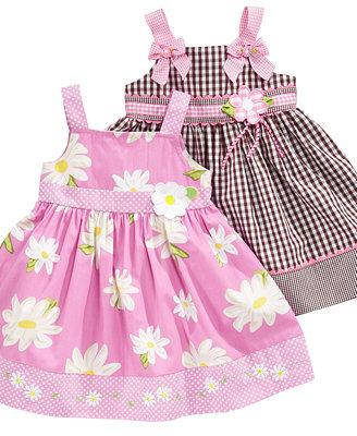 Blueberi Boulevard Baby Dress, Baby Girls Pattern Sundress ...