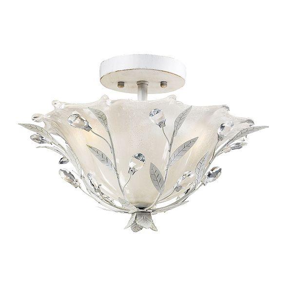 ELK Lighting Circeo 2-Light Semi-Flush in Antique White