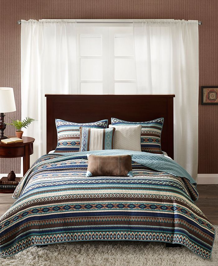 Madison Park - Malone 6-Pc Full/Queen Quilted Coverlet Set