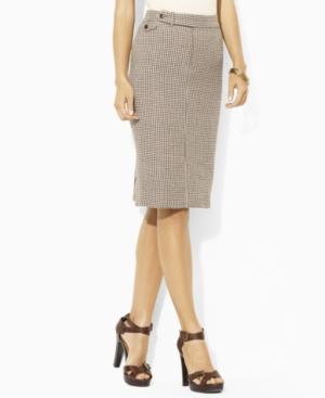 Lauren by Ralph Lauren Skirt, Nima Linen Houndstooth Straight