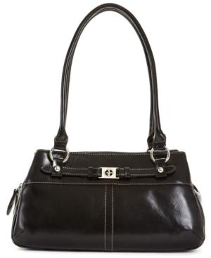 Upc 747542207541 Product Image For Giani Bernini Handbag Glazed Leather Swagger Satchel Upcitemdb