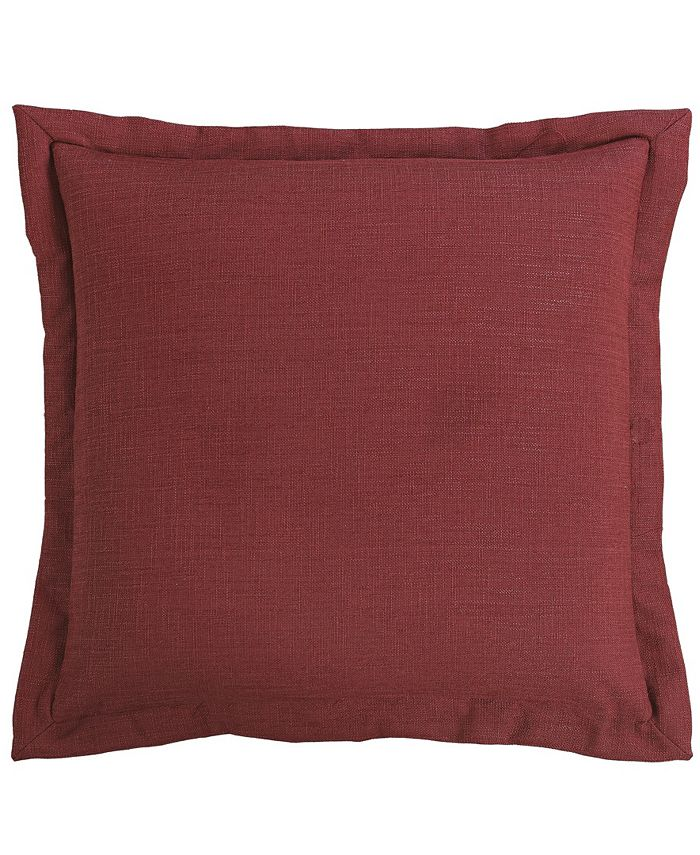 HiEnd Accents - Red Euro Pillow, 27x27